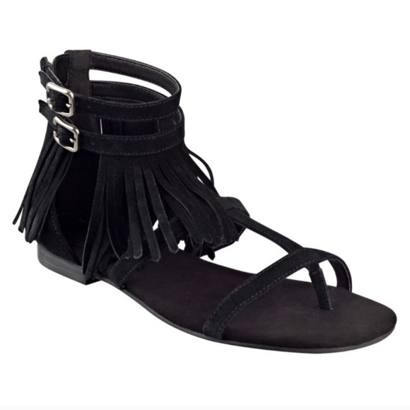 Marc Fisher Shoes - New Marc Fisher Laryn Suede Fringe Sandal 7.5